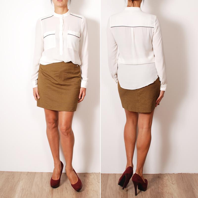 Chcete-li vytvořit klasický vzhled založený na hořčičné sukni 56e1700c48